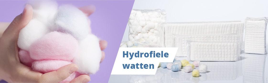 Hydrofiele watten