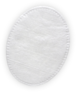 Stitched oval pad